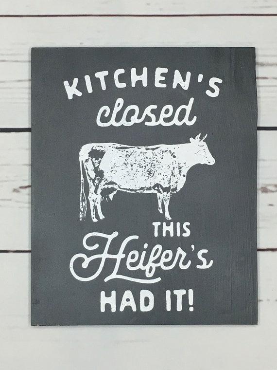 Cow Kitchen Decor Heifer Kitchens Closed Farmhouse Kitchen Etsy