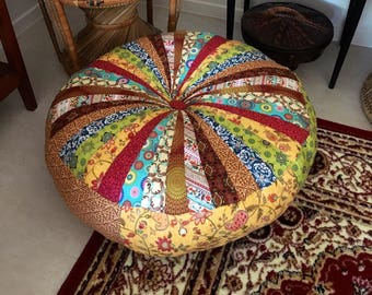 moroccan floor seating. Unfilled 30 Inch (76Cm) Diameter Moroccan Floor Cushion, Made In Australia, Boho, Pouf, Pouffe, Seating, Meditation Patchwork Seating
