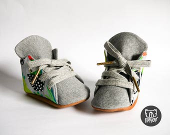 Cactus Succulent Lowtop Soft Sole Baby & Toddler Kicks | Lace up |