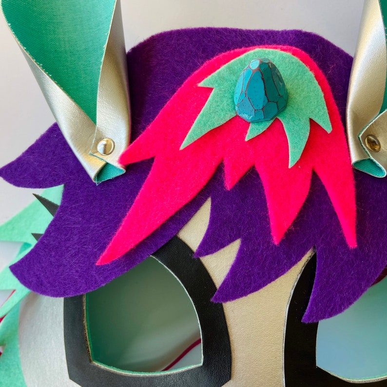 Animal Kids 3D Mask Purple Unicorn Mask Costume Accessory