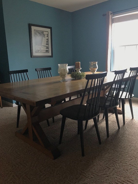 Oak Farmhouse Table Etsy