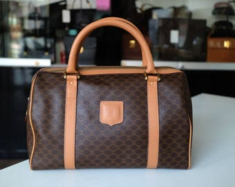 ba2e9633753 Authentic Vintage CELINE Macadam Boston Bag