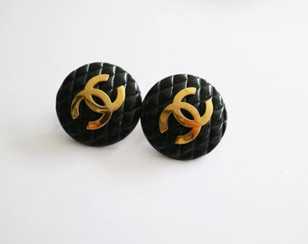 Reserved***Do not Purchase***Vintage Authentic Chanel CC logo Clip-on Earrings 93P