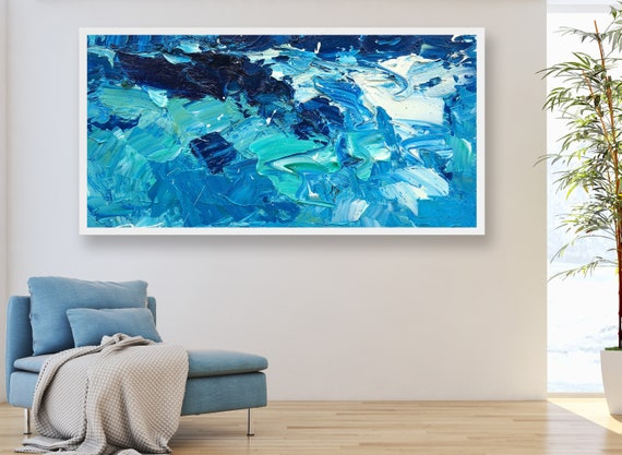 Extra Large Wall Art Ocean Painting Sea Painting Abstract Art | Etsy