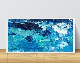 Sea Painting Oil Canvas Abstract Sea Art Ocean Painting Beach Home Decor Abstract Ocean Waves Coastal Nautical Decor Living Bedroom