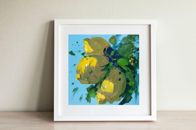 Ideen Fur Ein Kleines Land Wohnzimmer Malerei | Zitrone Malerei Kleine Kuche Dekor Gelb Wand Kunst Land Home