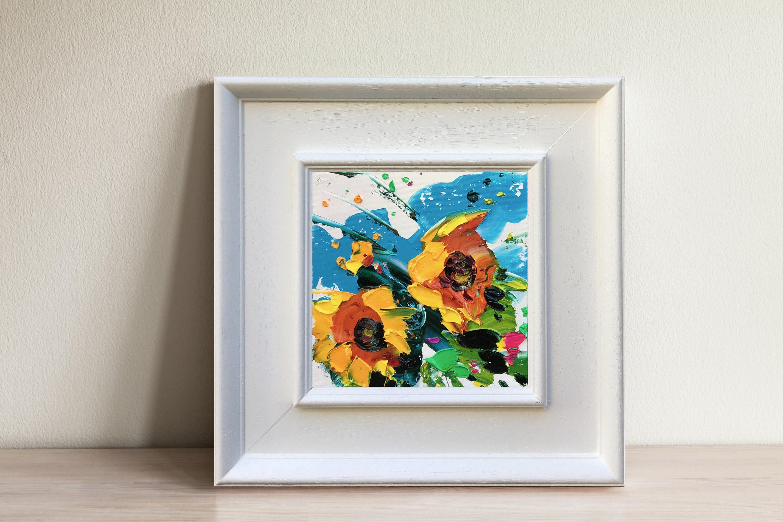 Gelbe Sonnenblumen Gemälde Öl auf Leinwand Blumen Malerei | Etsy