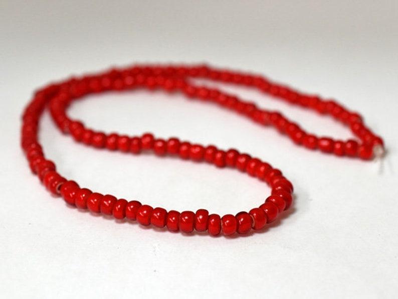 String of antique beautiful red medium size white hearts beads \u3010Free shipping\u3011 \u3010EB20003-2\u3011