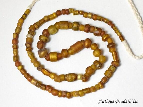 Ancient roman large gold sandwiche beads barel type3 \u3010free shipping\u3011\u3010EB16014-3\u3011