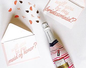 Will you be my bridesmaid? Bridesmaid Proposal Card