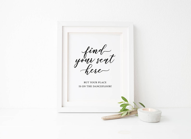 Find Table Simple wedding sign Minimalist Wedding Quote Sign Stylish wedding sign Minimal Wedding Sign Printable Find Your Seat sign