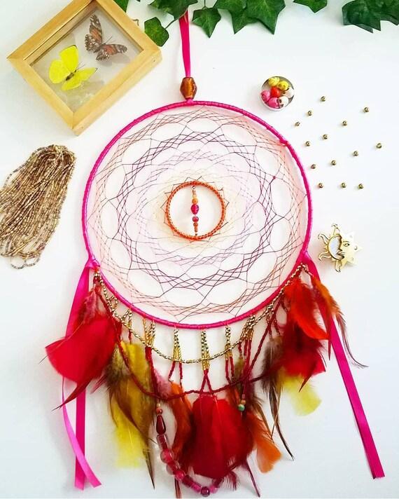 Orange Sugar Skull Charm