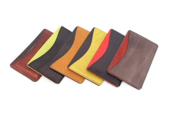 Card Factory Business Card Holders Leather Case For Business Cards And Credit Cards Black Cognac