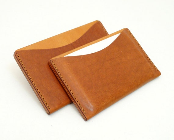 Visitenkartenetui Leder Kreditkartenetui Visitenkarten Hülle Leder Kreditkarten Leder Hülle Business Cards Holder Leather Mini Geldbeutel