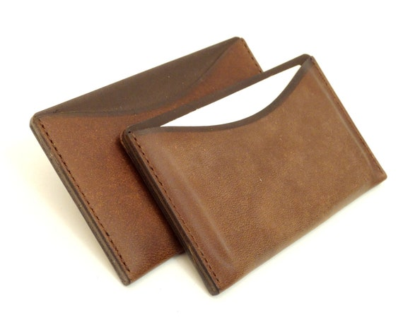 Card Factory Business Card Holders Leather Case For Business Cards And Credit Cards Cognac