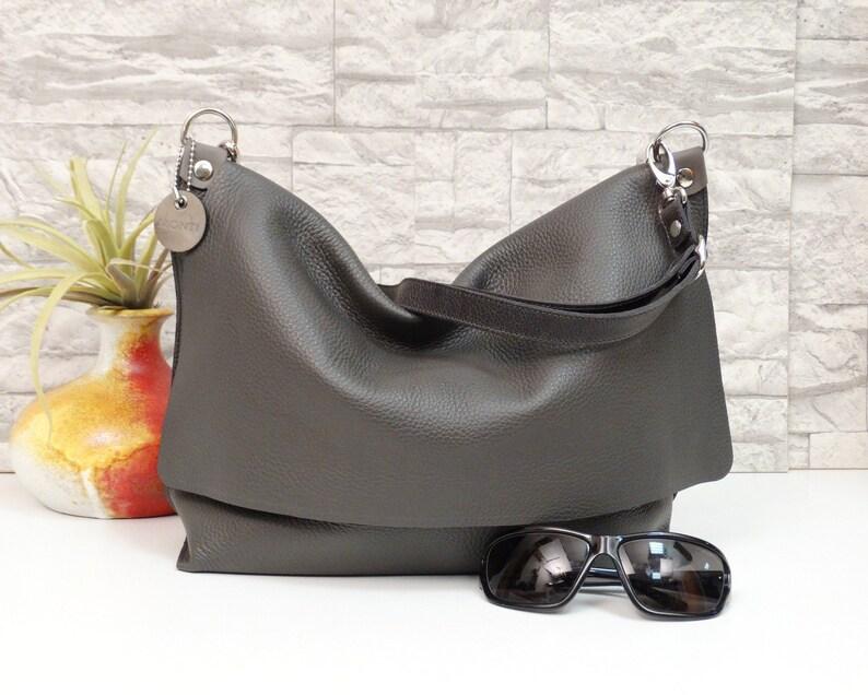 75ae07a2cbd01 Ledertasche Damen Schultertasche Handtasche Umhängetasche