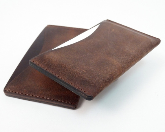 Kartenwerk Visitenkartenetui Leder Etui Für Visitenkarten Und Kreditkarten Cognac Braun