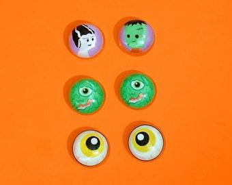 Monster Lovers Halloween Resin Earrings