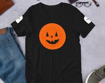 Jack O Lanterns and Ghosts Short-Sleeve Unisex Halloween T-Shirt