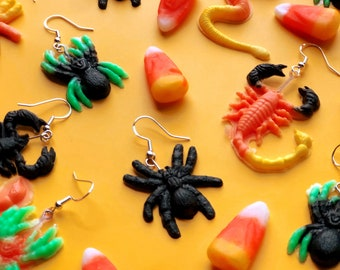 Creepy Crawler Earrings- Halloween Collection-choose your color