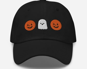 Pumpkins and Ghost Halloween Dad hat