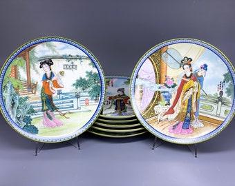 IMPERIAL JINGDEZHEN PORCELAIN Yuan-Chun Beauties of The Red Mansion Collectable Plates Asian Art Artist Jiang Xue-Bing Zhao Huimin China