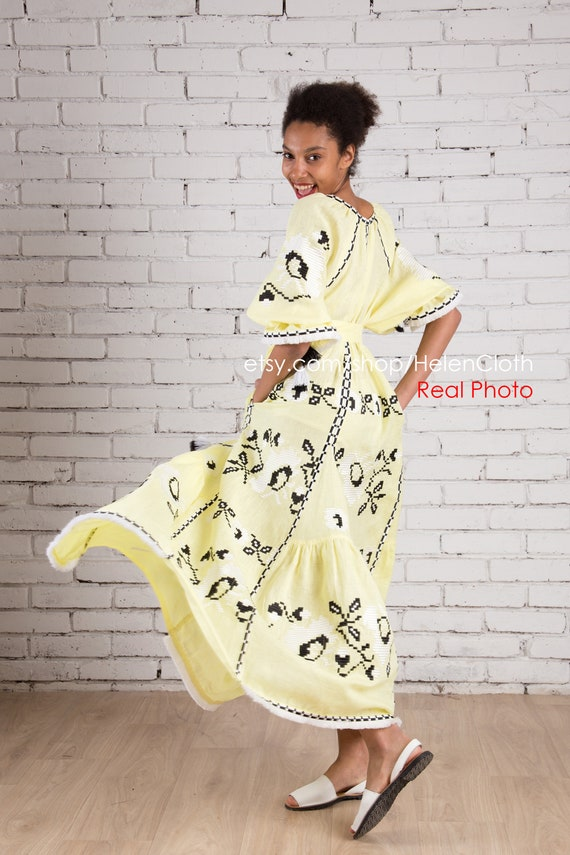 Ukrainian Embroidered Women/'s Traditional Shirt 100/% LINEN Vyshyvanka Boho Style