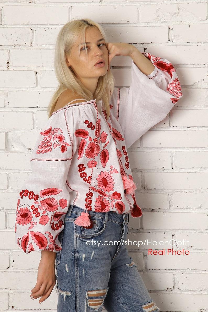 50d3451bfbe90 Boho vyshyvanka lin blouse grande taille mexicaine brodé
