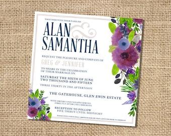 Samanatha Wedding Invitation