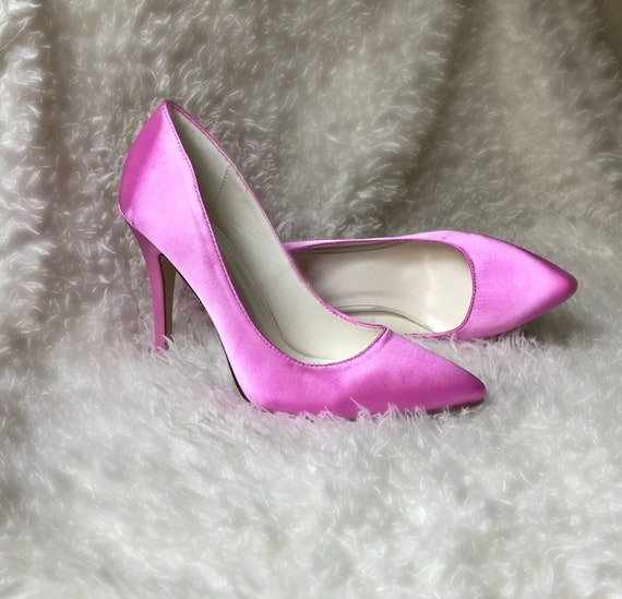 shoes Pink High satin heels pumps Pink heels pink 0H0wvqar