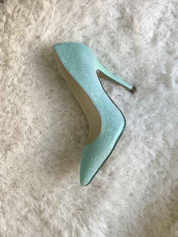 blue wedding Glitter Blue Pumps High Heel shoes blue Something wdYYxranq0
