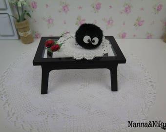 Tavolino nero in legno per Blythe