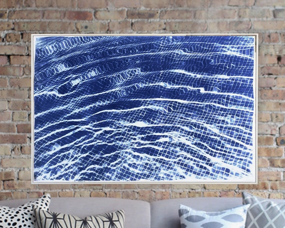 Miami Art Deco Pool / 100x70cm / Cyanotype on Watercolor Paper / Limited Edition