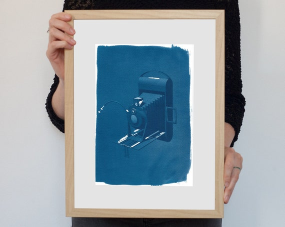 3d Analogue Vintage Film Camera, Cyanotype, 4x5 Camera, Vintage Photo, Gift Photographer, Camera Collector Fujifilm Large Fromat Alt Process
