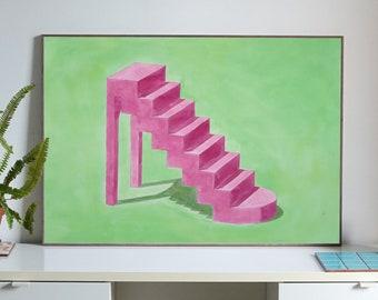 """High Heel Staircase"" by Ryan Rivadeneyra, 100x70cm"