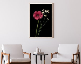 Pink and White Delicate Flowers / Limited Edition Giclée Print