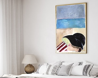 Beach Nap with Rothko / Acrylic Painting on Paper / 2021