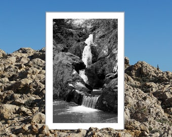B&W / Zen Forest Waterfall / Limited Edition