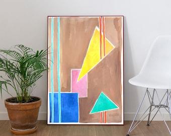 Balanced Geometry I / Acrylic Painting on Paper / 2021