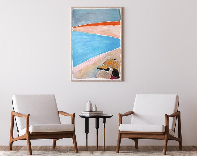Last Summer Sunset / Acrylic Painting on Paper / 2021