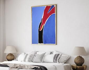 Blue Cascade Rocks / Acrylic Painting on Paper / 2021