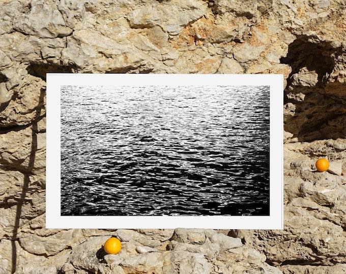 B&W / Calming Sea Ripples / Limited Edition