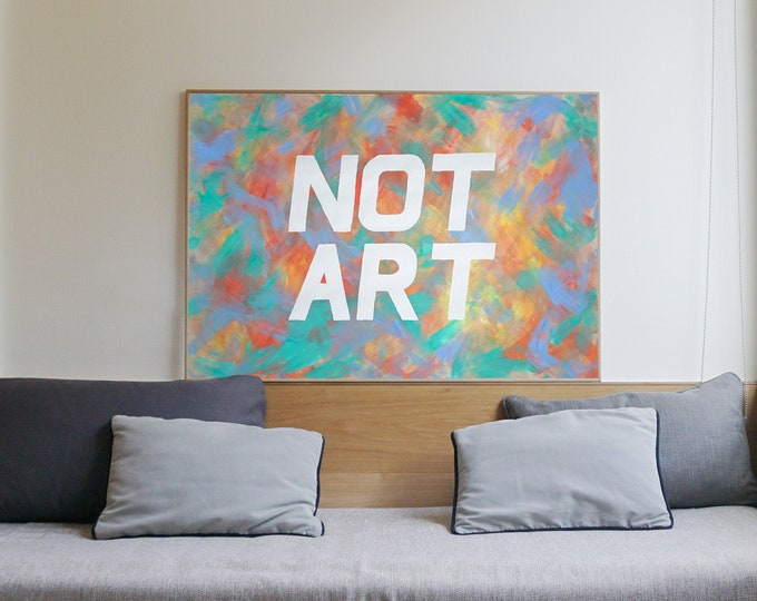 """""""Not Art"""" / Acrylic Painting on Paper / 2021"""