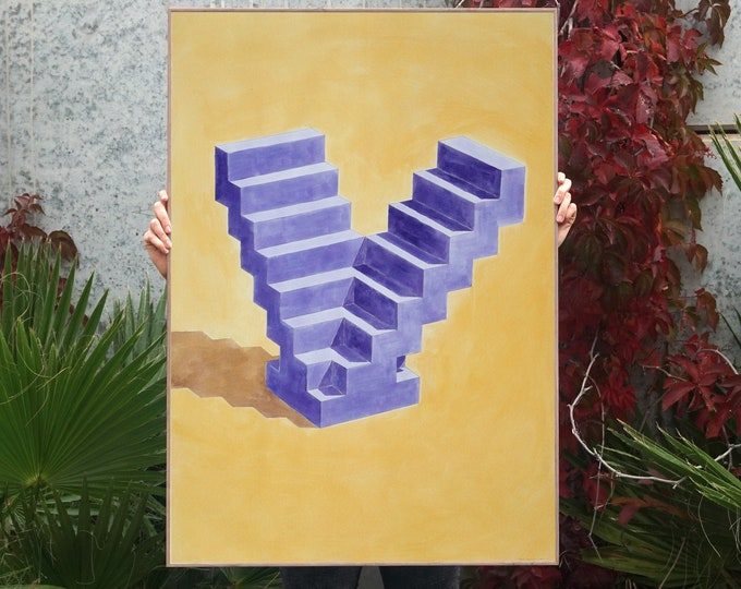 """""""Double Staircase"""" by Ryan Rivadeneyra, 100x70cm"""