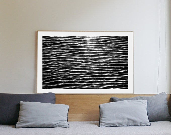 B&W / Tranquil Water Patterns / Limited Edition