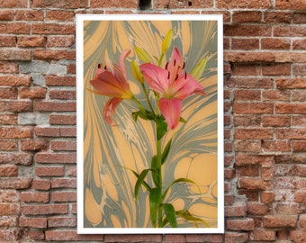 Seventies Psychedelic Flowers / Limited Edition Giclée Print