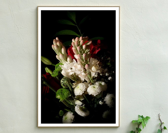 Flowers with Caravaggio Light / Limited Edition Giclée Print