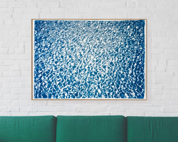 Colossal Cyanotype Print: Infinity Pool/ 100x70cm / Limited Edition /