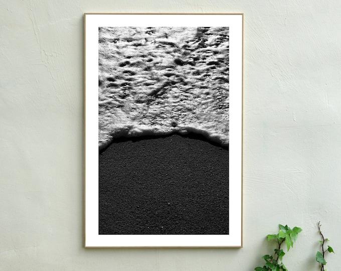 B&W / Foamy Shore Seascape / Limited Edition
