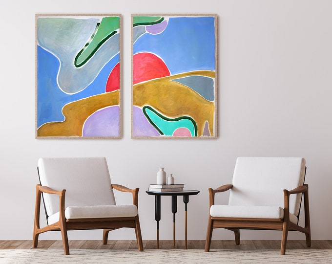 Avocado Field Sky / Acrylic Painting on Paper / 2021